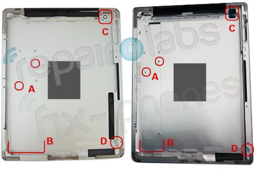 3 по сравнению с iPad 2