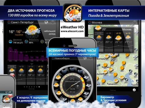 прогноз погоды для iphone, ipad